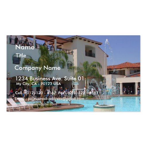 Pool At Defcon Business Card Template