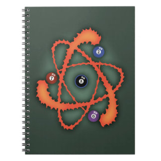 Pool Atom II Spiral Notebook