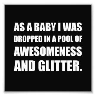 Pool Awesomeness Glitter Art Photo