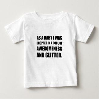 Pool Awesomeness Glitter Baby T-Shirt