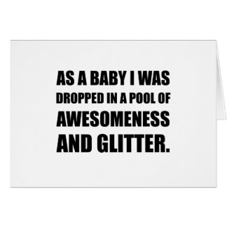 Pool Awesomeness Glitter Card