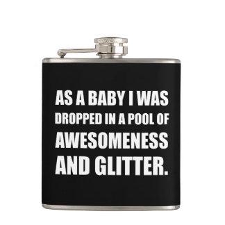 Pool Awesomeness Glitter Flasks