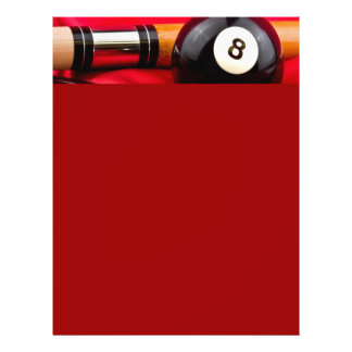 Pool Ball and cue Flyer