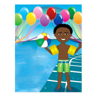 Pool Ball Boy Postcard