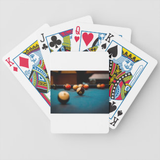 Pool Ball Table Bicycle Playing Cards