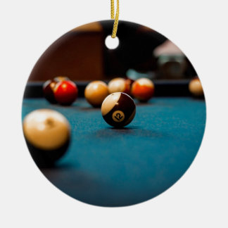 Pool Ball Table Ceramic Ornament