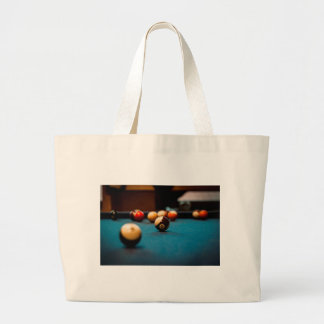 Pool Ball Table Large Tote Bag