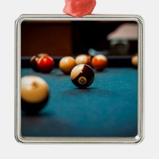 Pool Ball Table Metal Ornament