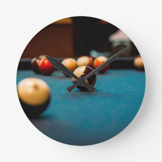 Pool Ball Table Round Clock