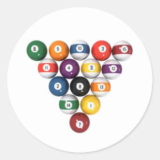 Pool Balls / Billiards: 3D Model: Classic Round Sticker