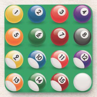 pool balls coasters