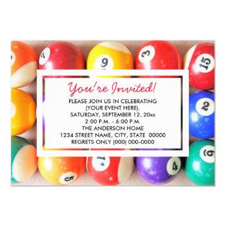 Pool Balls Invitations
