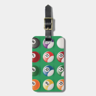 pool balls luggage tag