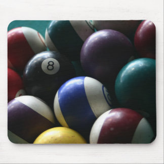 Pool balls on a billard table mousepads
