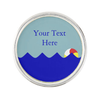 Pool Beach Ball (Customizable) Lapel Pin