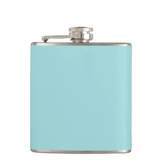 Pool Blue Personalized Aqua Teal Color Background Flask