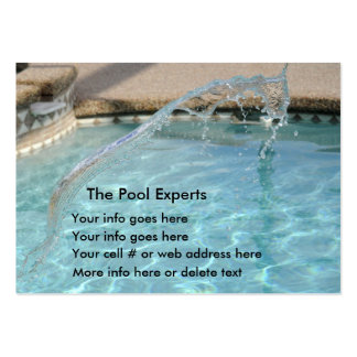 Pool blue water splash Business Cards