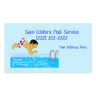Pool Boy Swimming Template Pack Of Standard Business Cards