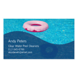Pool Cleaner Business Card Clear Swimming Pool