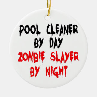 Pool Cleaner Zombie Slayer Ceramic Ornament