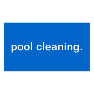 Pool Cleaning Business Card Templates