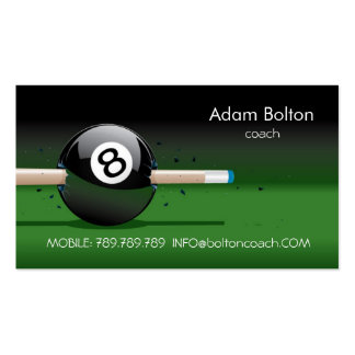 Pool Coach or Player Business Card Template