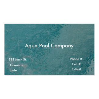 Pool Company Pack Of Standard Business Cards