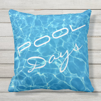 Pool Days Splash With Me Outdoor Pillow