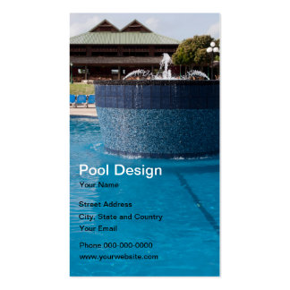 Pool Design Business Card Business Card Templates