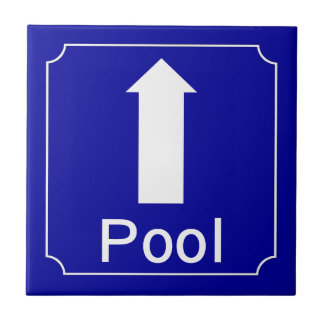 Pool direction sign tile