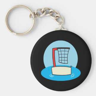 Pool Hoops Basic Round Button Keychain