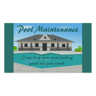 Pool Maintenance Business Card