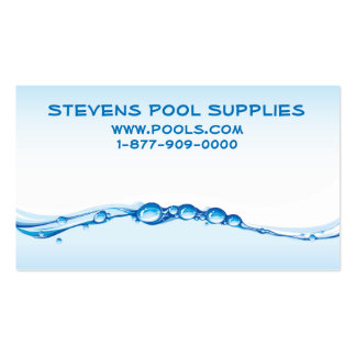 Pool or Spa Pack Of Standard Business Cards