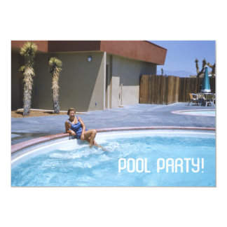 Pool Party 1950's Theme Card