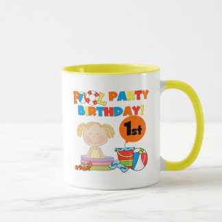 Pool Party 1st Birthday T-shirts and Gifts Mug