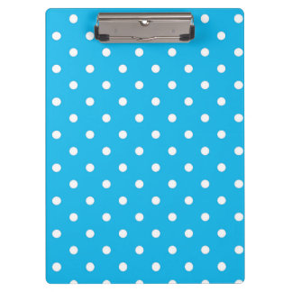 Pool Party Blue Polka Dot Clipboard
