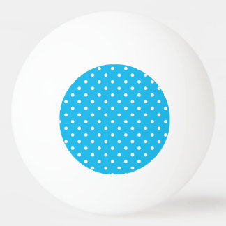 Pool Party Blue Polka Dot Ping Pong Ball