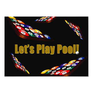 Pool Party Invitation - Billiards