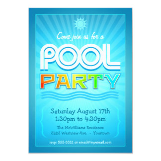 Pool Party Invitation - Summer Fun Celebration