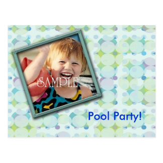 Pool Party Photo Invite Postcard