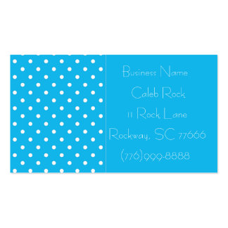 Pool Party Polka Dot Template Business Cards