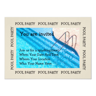 Pool Party Pool View Invitation