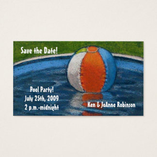 POOL PARTY SAVE THE DATE CARD