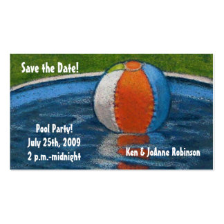 POOL PARTY SAVE THE DATE CARD BUSINESS CARD