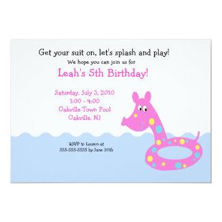 POOL Party Swimming Tube 5x7  Birthday Invitations
