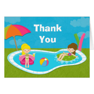 Pool Party Thank You Card