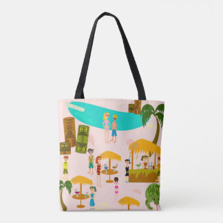 Pool Party Tropical Beach Tote Bag