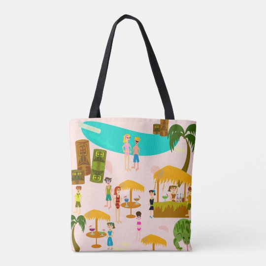 Pool Party Tropical Beach Tote Bag