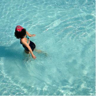 pool photo sculpture button