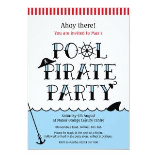 Pool Pirate Party Birthday Invite